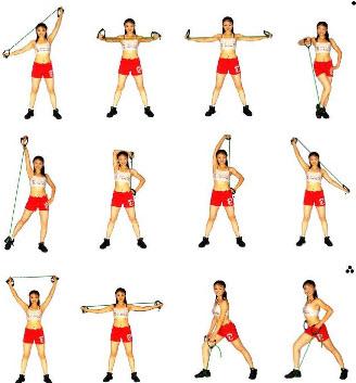 Разные упражнения с эспандером