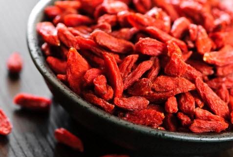 Сухие ягоды годжи